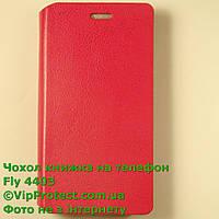 Fly IQ4403 красный чехол-книжка на телефон