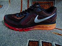 Мужские повседневные кроссовки NIKE AIR MAX 2014 оранжево-черные