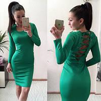 Оригинальное платье с корсетной шнуровкой на  спине(4 расцветки)208
