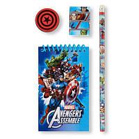 "Канцелярский набор для школы ""Мстители"" Marvel Avengers Assemble 4-Piece"