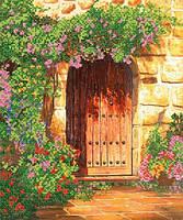 """Рисунок на ткани для вышивания бисером """" Калитка в сад"""""""