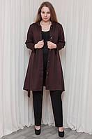 Стильное платье - кардиган в модном шоколадном цвете, фото 1