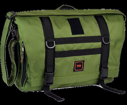 """Комфортная сумка-мессенджер для ноутбука 13 """", 14,5 л. Gud Messenger 002-1 оливковая"""