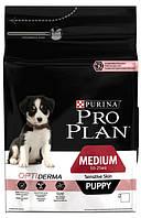 Корм для щенков с лососем и рисом Pro Plan Puppy Medium Sensitive Skin