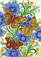 """Рисунок на ткани для вышивания бисером """"Краски лета"""""""