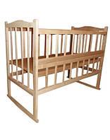 Кровать КФ с фигурной спинкой, откидным боком, качалкой