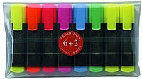 Набор маркеров TEXTLINER 154862 6+2желтых шт.