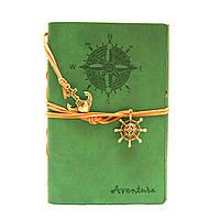 Винтажный стильный блокнот Aventura морская тематика (зеленый)