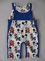 Хлопковый комплект для девочек и мальчиков от рождения до года Маус