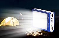 Power Bank 10000mAh на солнечной батарее с LED-фонарем (20 лампочек)