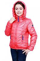 Утепленная детская куртка для девочек на весну с карманами в расцветках