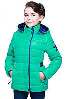 Красивая детская куртка Нана на весну для девочек с карманами цвета в ассортименте