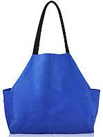Женская замшевая сумка 8 синяя
