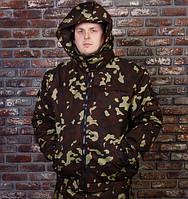 """Зимняя мужская куртка для рыбалки и охоты """"Мистраль"""" укороченная камуфляж дубок"""