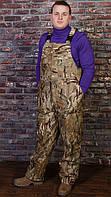 """Утепленные мужские брюки для охоты (полукомбинезон) """"Тайфун"""" камуфляж мультикам"""