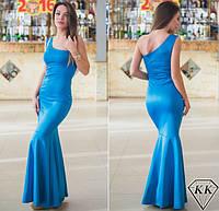 Платье женское в пол на одно плечо