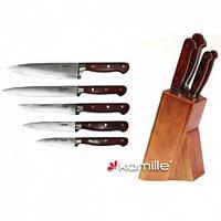 Набор ножей с деревянной колодой Kamille (5109)  6 пр