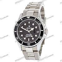 Часы мужские наручные Rolex Submariner Silver-Black