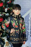 Куртки на девочку с сумочкой ''Сова'',весна-осень,черная 32,34,36 р