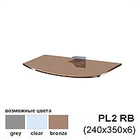 Полка из стекла Gamma PL2RB (240x350x6), бронза