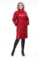 Женское демисезонное пальто АННЕТ новая коллекция 2016 года, большие размеры (50-60)