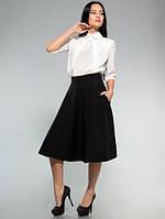 Блузка стильная офисная с галочкой белая