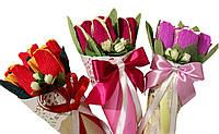 Букет из конфет Кулечек с тюльпанами