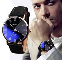 Классические мужские часы YAZOLE 268; кварцевые на батарейке SR626SW