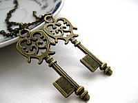Ключик на цепочке, парные кулоны для влюбленных, подвески для двоих, для пары