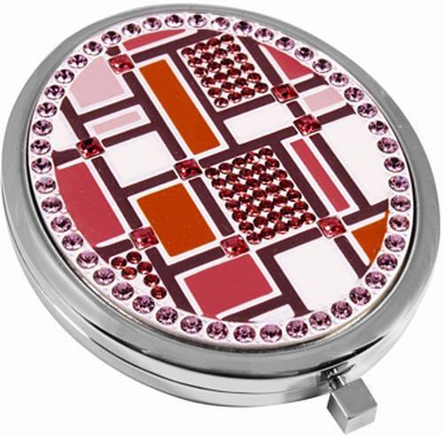 Оригинальное карманное зеркальце Jardin D'ete 98-0419 серебристый