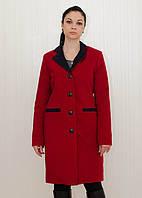 Зимнее кашемировое пальто с прорезными карманами