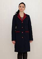 Кашемировое пальто с контрастным вортником