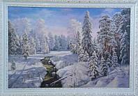 «Зимний пейзаж» картина маслом