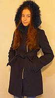 Пальто зимнее (кашемир, натур.мех)
