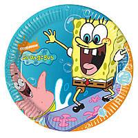 Тарелка картонная для дня рождения, детского праздника цветная