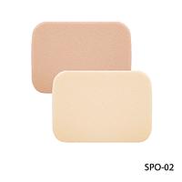 Спонжи SPO-02 для снятия макияжа (2 шт, прямоугольной формы)