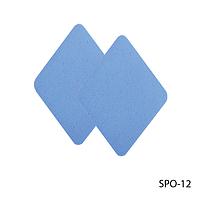 Спонжи SPO-12 для нанесения и коррекции макияжа (4 шт, ромбовидной формы, тонкие)
