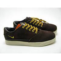 Кроссовки мужские Nike Pepper коричневые с бежевым в замше