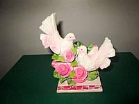 Сувенир для влюблённых Пара голубей с розами