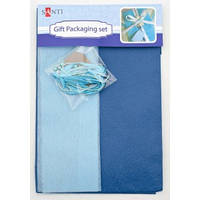 Набор для упаковки подарка, 40*55см, 2шт/уп., сине-серый 952057
