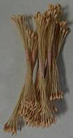 Тычинки желтые бледно-розовые (большие) 25шт.(код 04679)