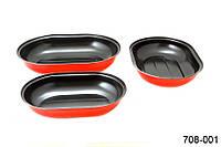 Набор форм для выпечки с антипригарным покрытием 3 шт 708-001