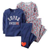 Комплект пижам для девочек Carters