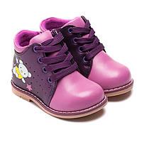 Весенние ботинки для девочки, на шнурочке, размер  20-25
