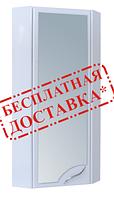 Шкаф для ванной навесной угловой 30-011 зеркало левый