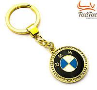 """Брелок для авто золотого цвета со стразами """" BMW """""""