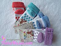Носочки махровые для новорожденных разные цвета