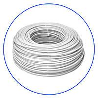"""Шланг, белый, эластичный, полиэтиленовый 1/4"""", бухта 50 м, KTPE14W-50"""