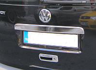 Накладка на багажник (над номером) Volkswagen CADDY (Фольксваген кадди), 1 дверь нерж.