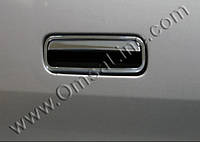 Накладки на ручку багажника Volkswagen Caddy 2010+(фольксваген кадди), нерж. CARMOS